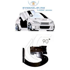 Scissor-Slide Vertical Lambo Door kit is designed for a universal fit and easy installation. The kit works by opening the door a little to the side and ...